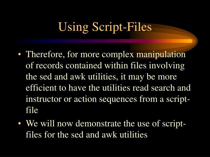 Using Script-Files