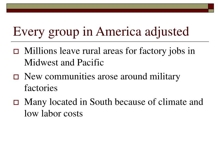 Every group in America adjusted
