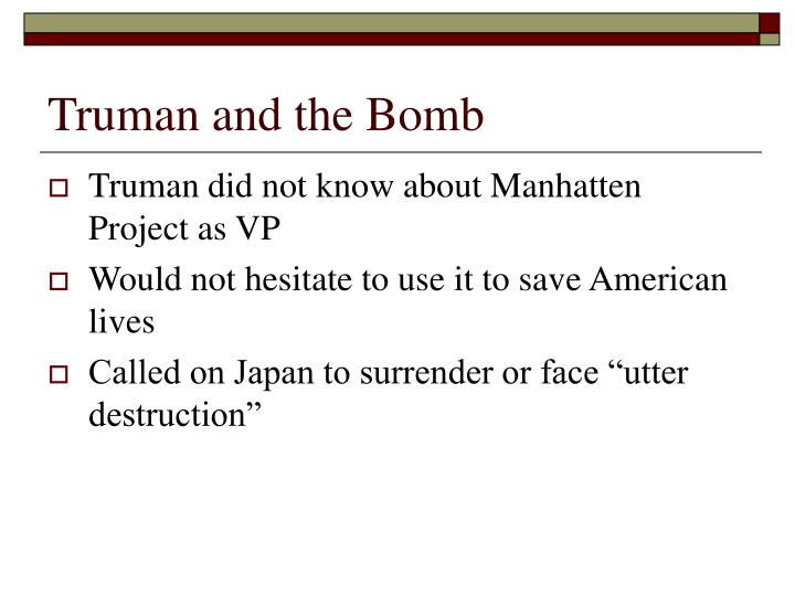 Truman and the Bomb