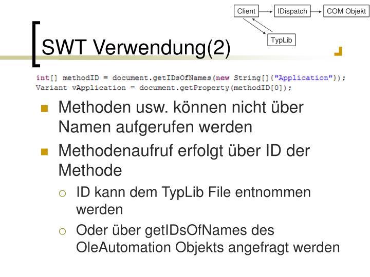 SWT Verwendung(2)