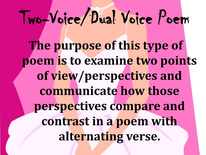 Two-Voice/Dual Voice Poem