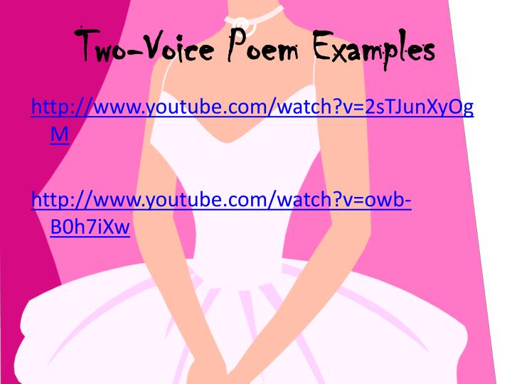 Two-Voice Poem Examples