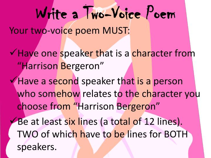 Write a Two-Voice Poem
