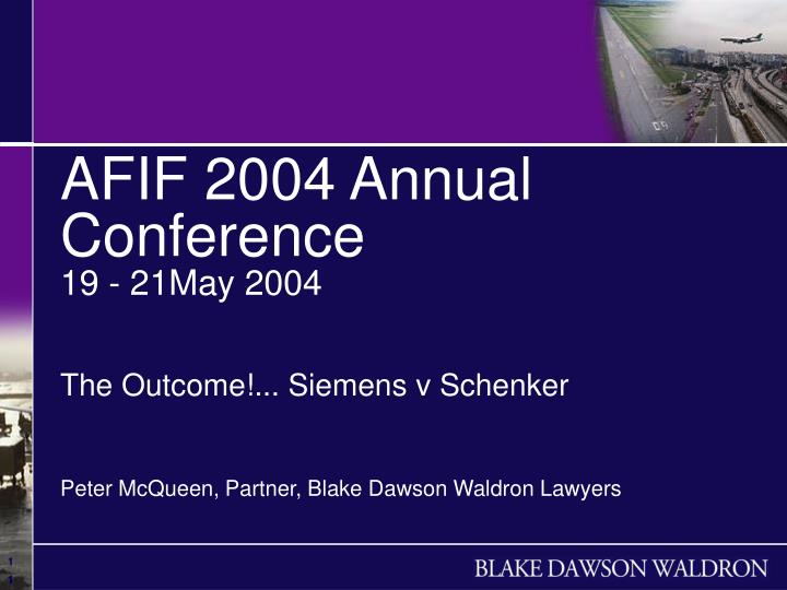 AFIF 2004 Annual Conference