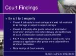 court findings1