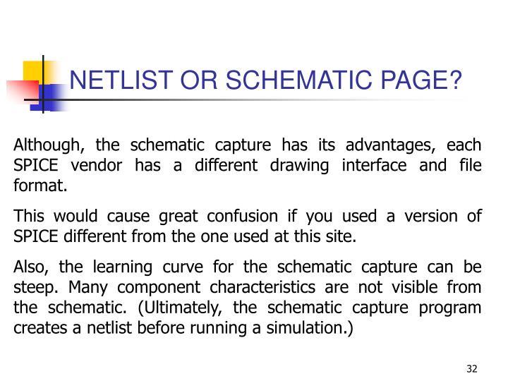 NETLIST OR SCHEMATIC PAGE?