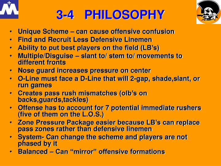 3-4   PHILOSOPHY