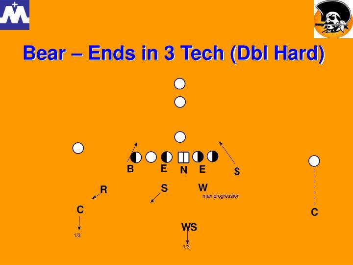 Bear – Ends in 3 Tech (Dbl Hard)