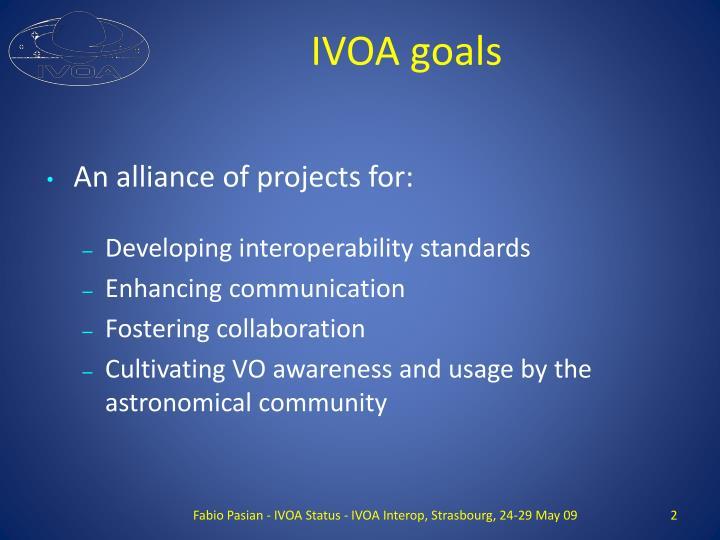 IVOA goals