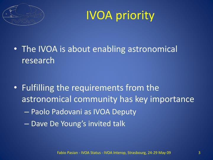 IVOA priority