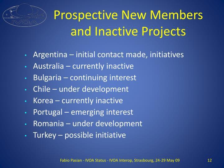 Prospective New Members