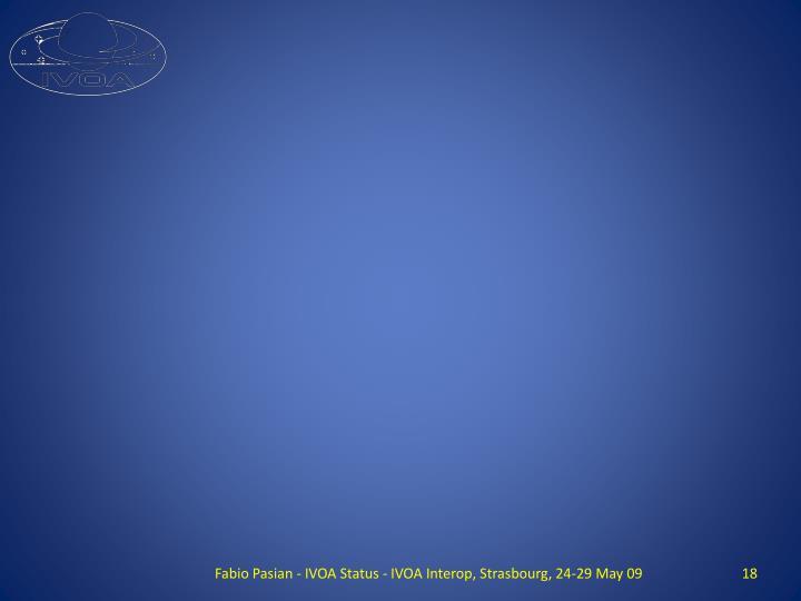 Fabio Pasian - IVOA Status - IVOA Interop, Strasbourg, 24-29 May 09