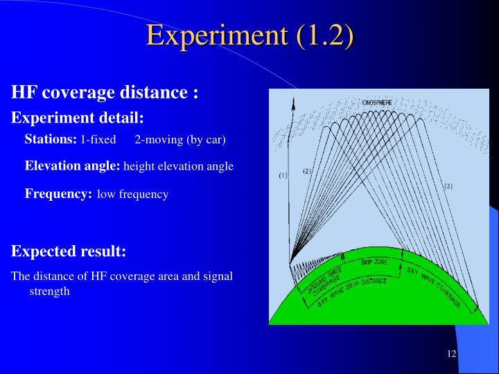 Experiment (1.2)