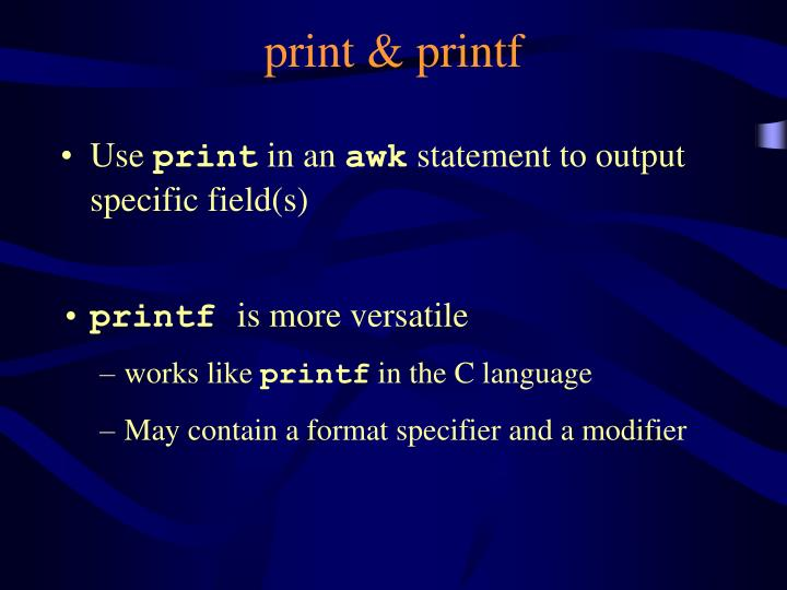 print & printf
