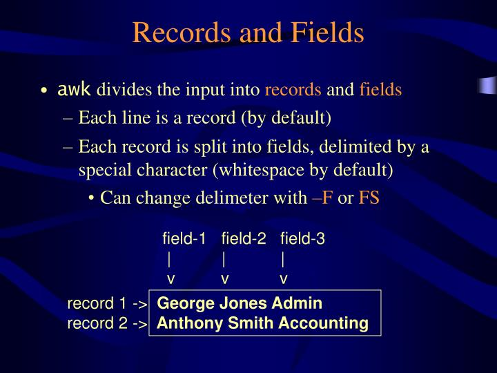 record 1 ->