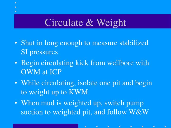Circulate & Weight