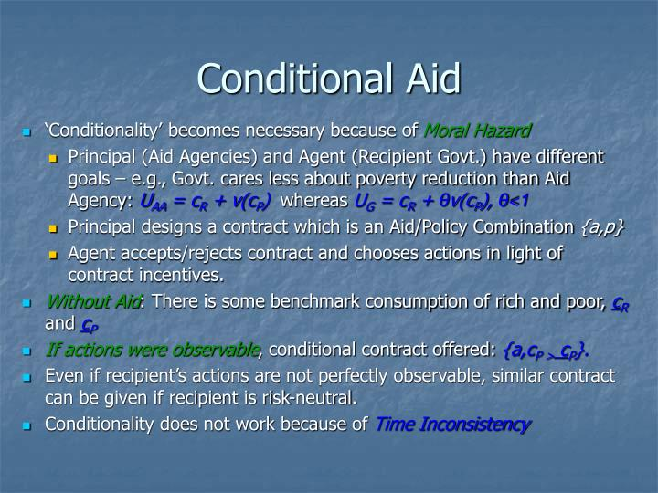Conditional Aid