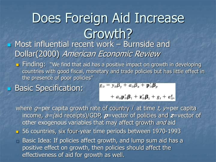 Does Foreign Aid Increase Growth?