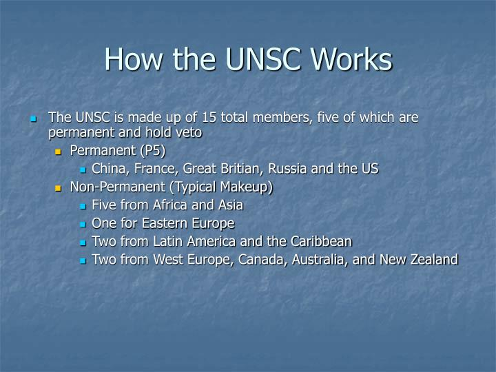 How the UNSC Works