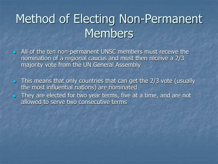 Method of Electing Non-Permanent Members