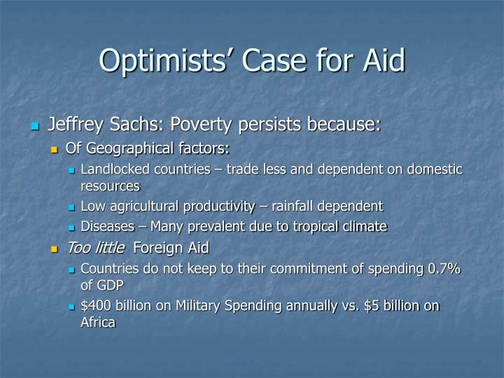 Optimists' Case for Aid