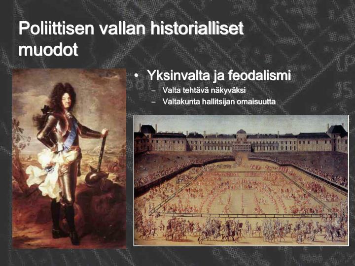 Poliittisen vallan historialliset muodot