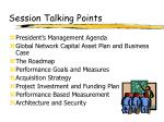 session talking points