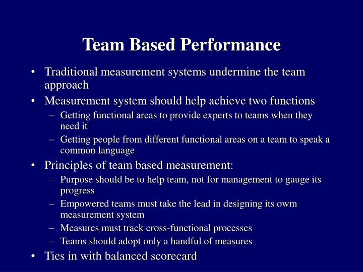 Team Based Performance