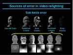 sources of error in video relighting3