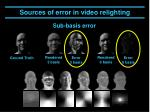 sources of error in video relighting4