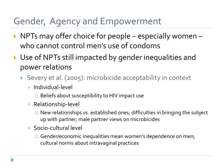 Gender,  Agency and Empowerment