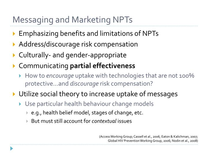 Messaging and Marketing NPTs