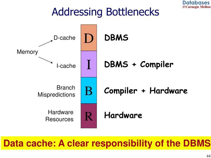 Addressing Bottlenecks