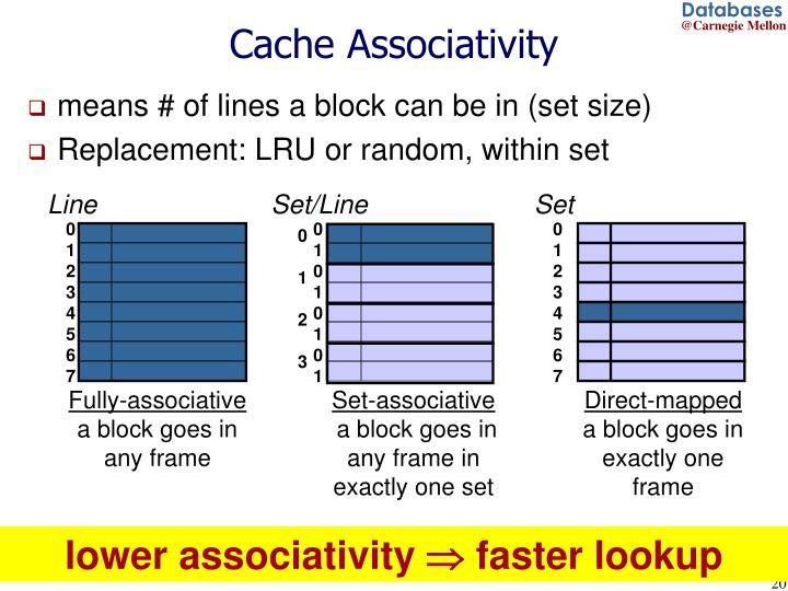 Cache Associativity