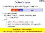 cache contents