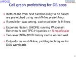 call graph prefetching for db apps