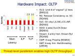 hardware impact oltp
