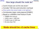 how large should the node be