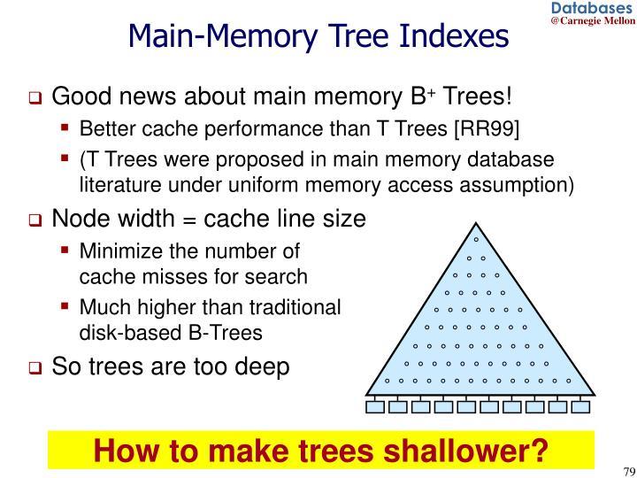 Main-Memory Tree Indexes
