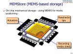 memstore mems based storage