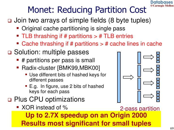 Monet: Reducing Partition Cost