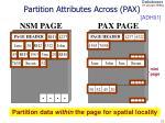 partition attributes across pax