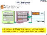 pax behavior