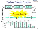 pipelined program execution