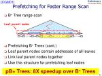 prefetching for faster range scan