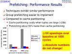 prefetching performance results