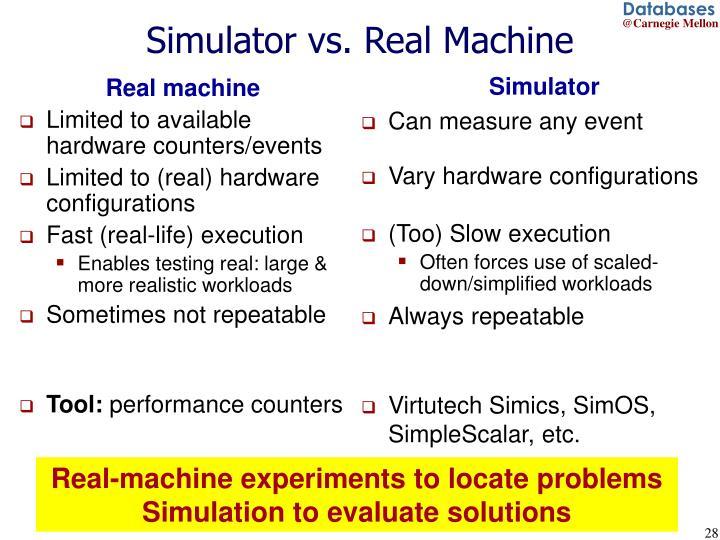 Simulator vs. Real Machine