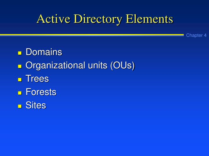 Active Directory Elements
