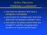 active directory guidelines continued1