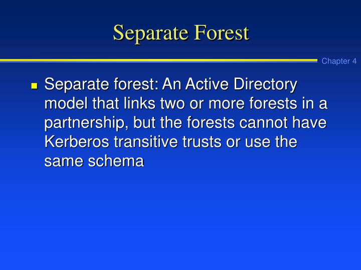 Separate Forest
